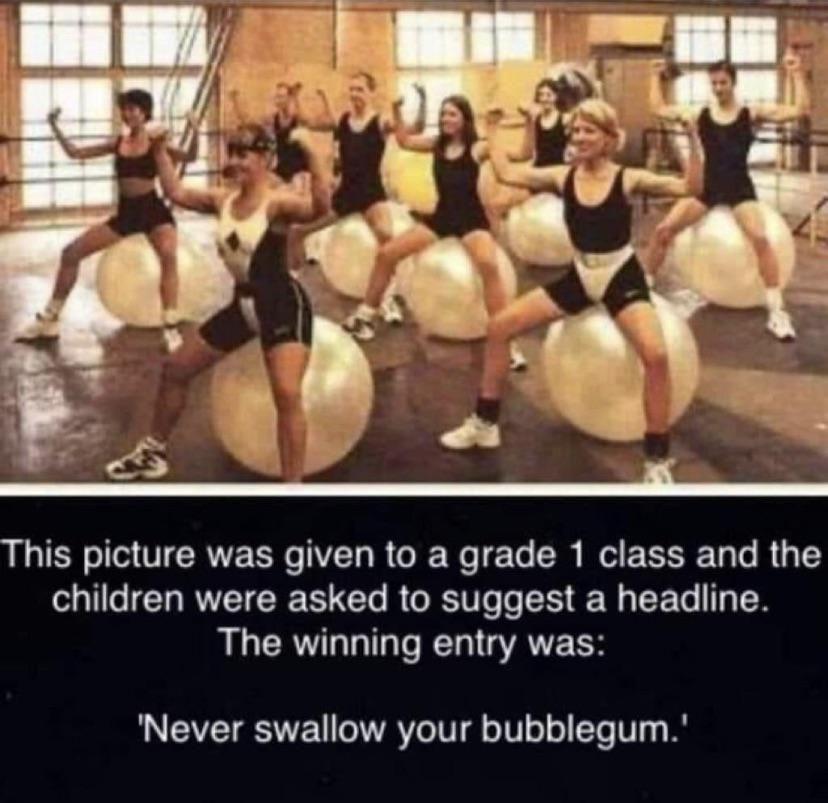 Never Swallow it Kids