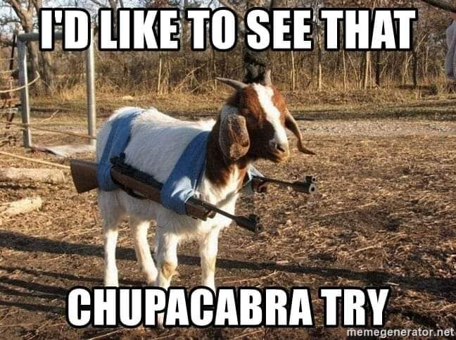 Try it, goat sucker!