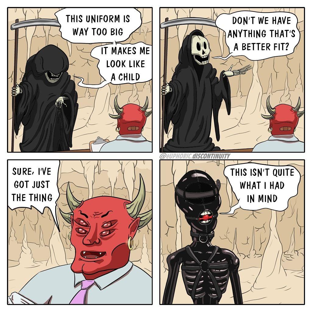 Death gets a new uniform