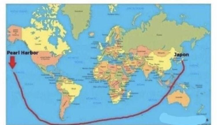This is how Japan attacked Pearl Harbor according to flat earthers.