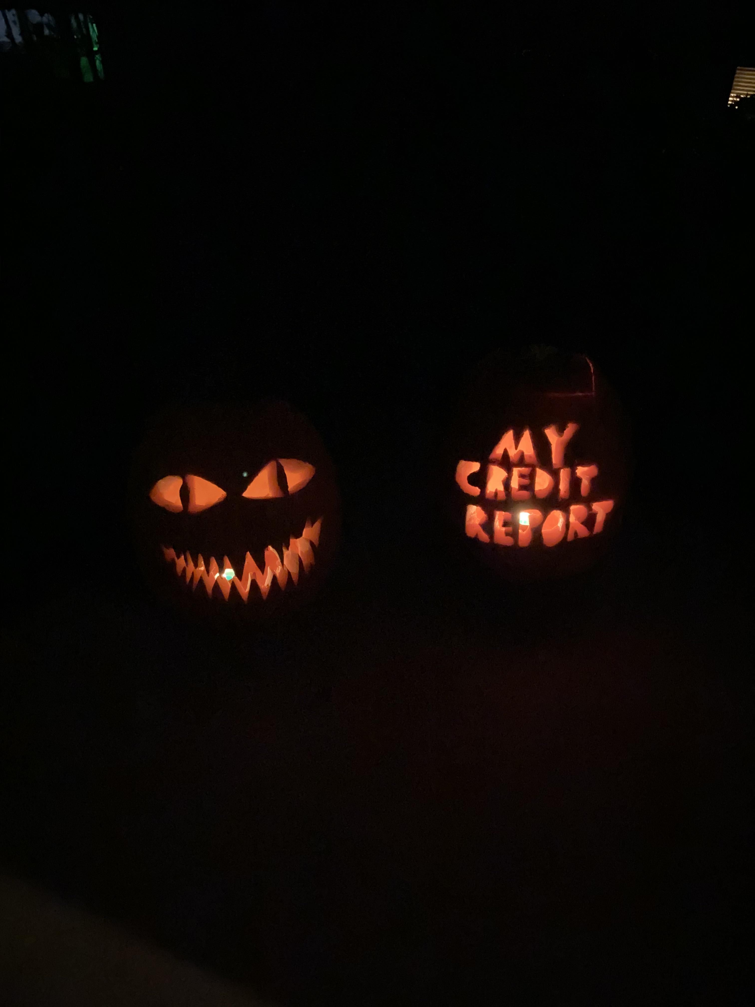 I couldn't think of any scary faces to carve so I stuck with what I know