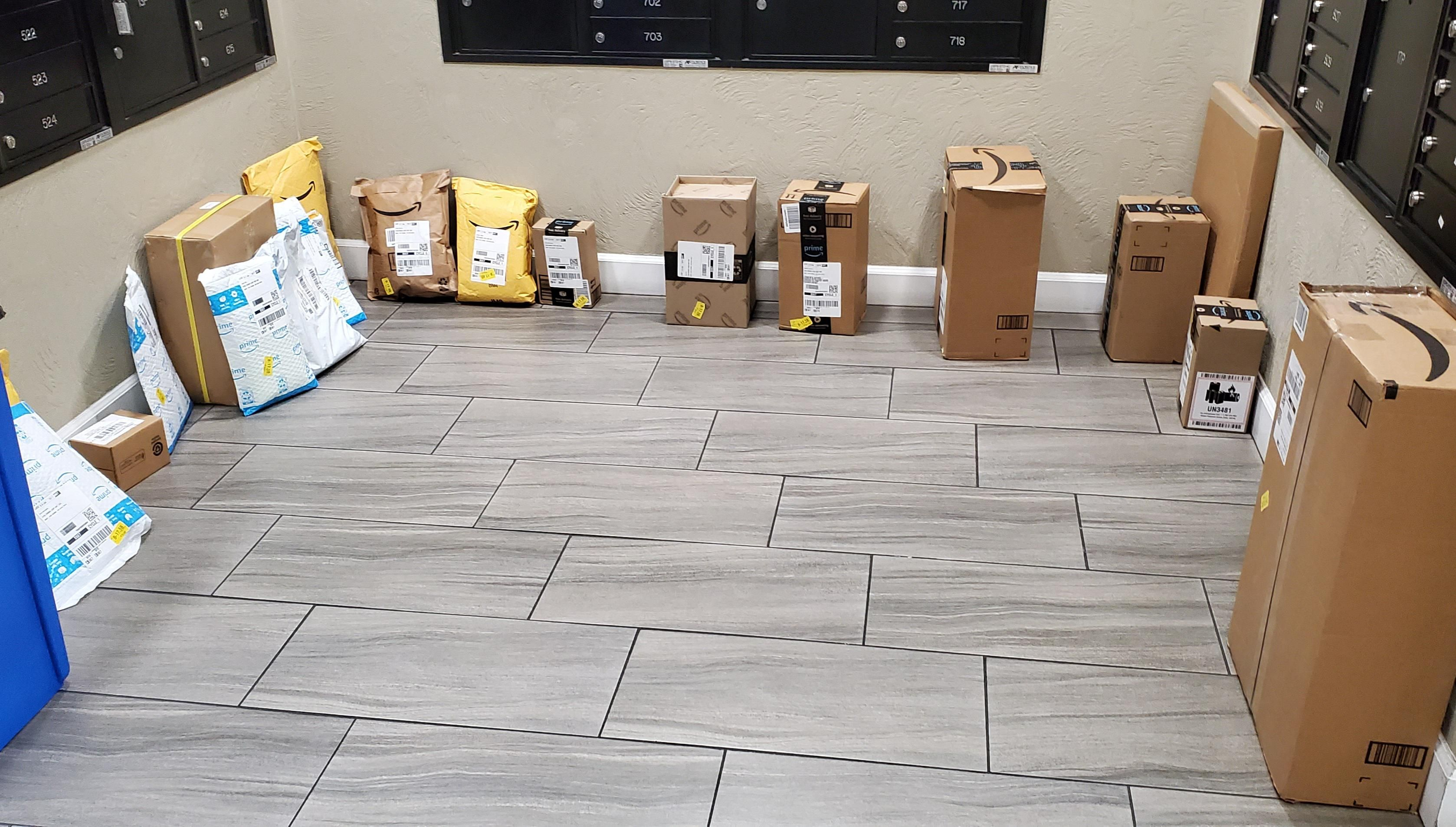 The aftermath of Prime Day at my apartment