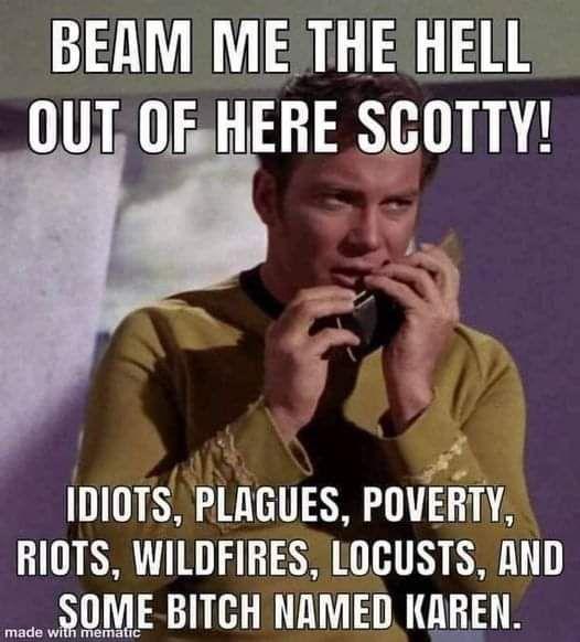 Beam me up Scotty too!