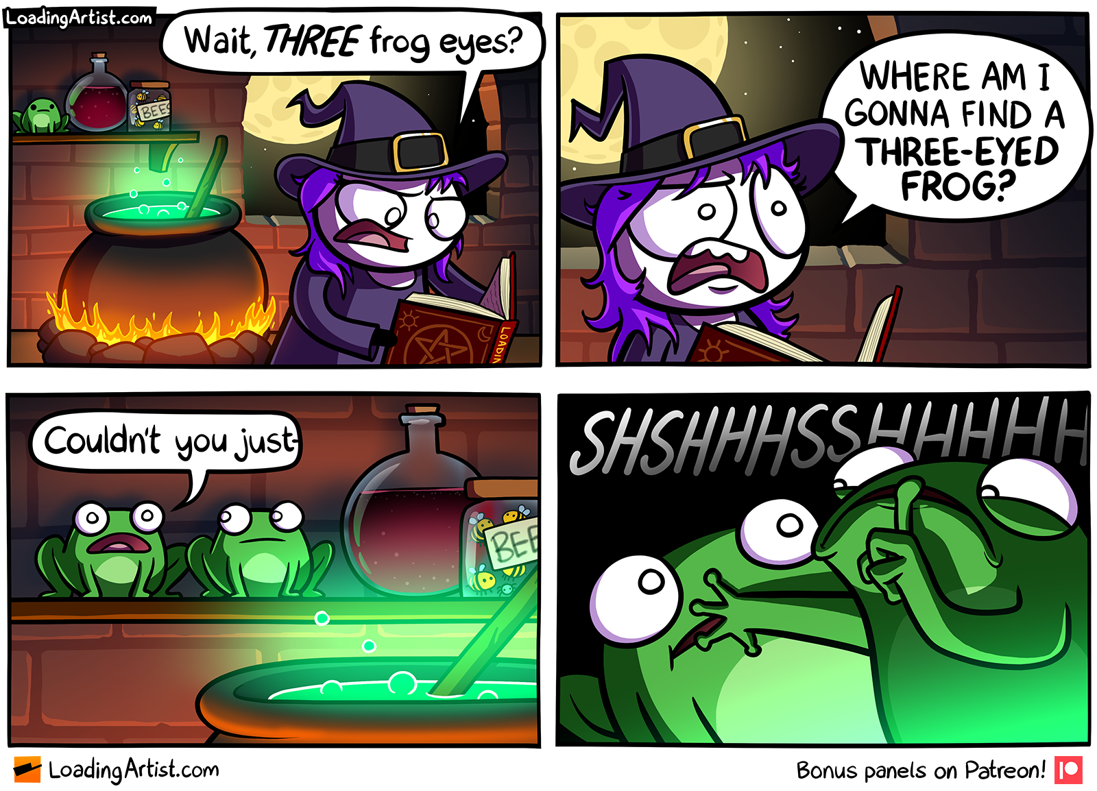 Wait, THREE frog eyes?