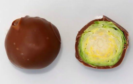 Ruin Halloween with chocolate covered Brussels Sprouts haha