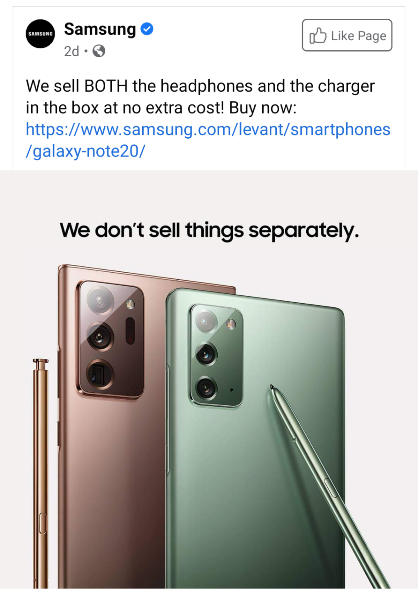Samsung back at it again. They got no chills