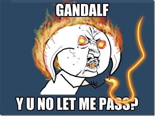 Why No Green Purple Stars: Gandalf WHY U NO