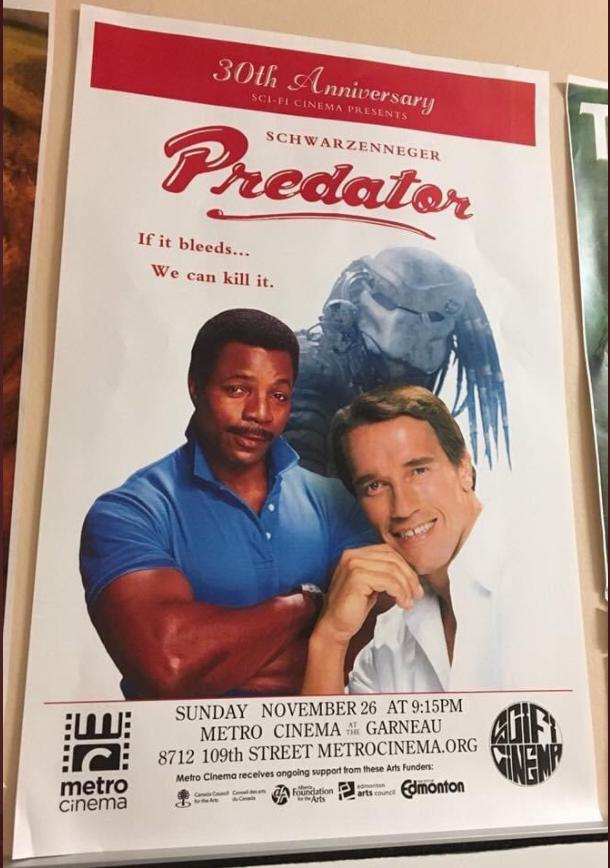 Canada rebranding a violent Schwarzenegger film into a buddy movie.