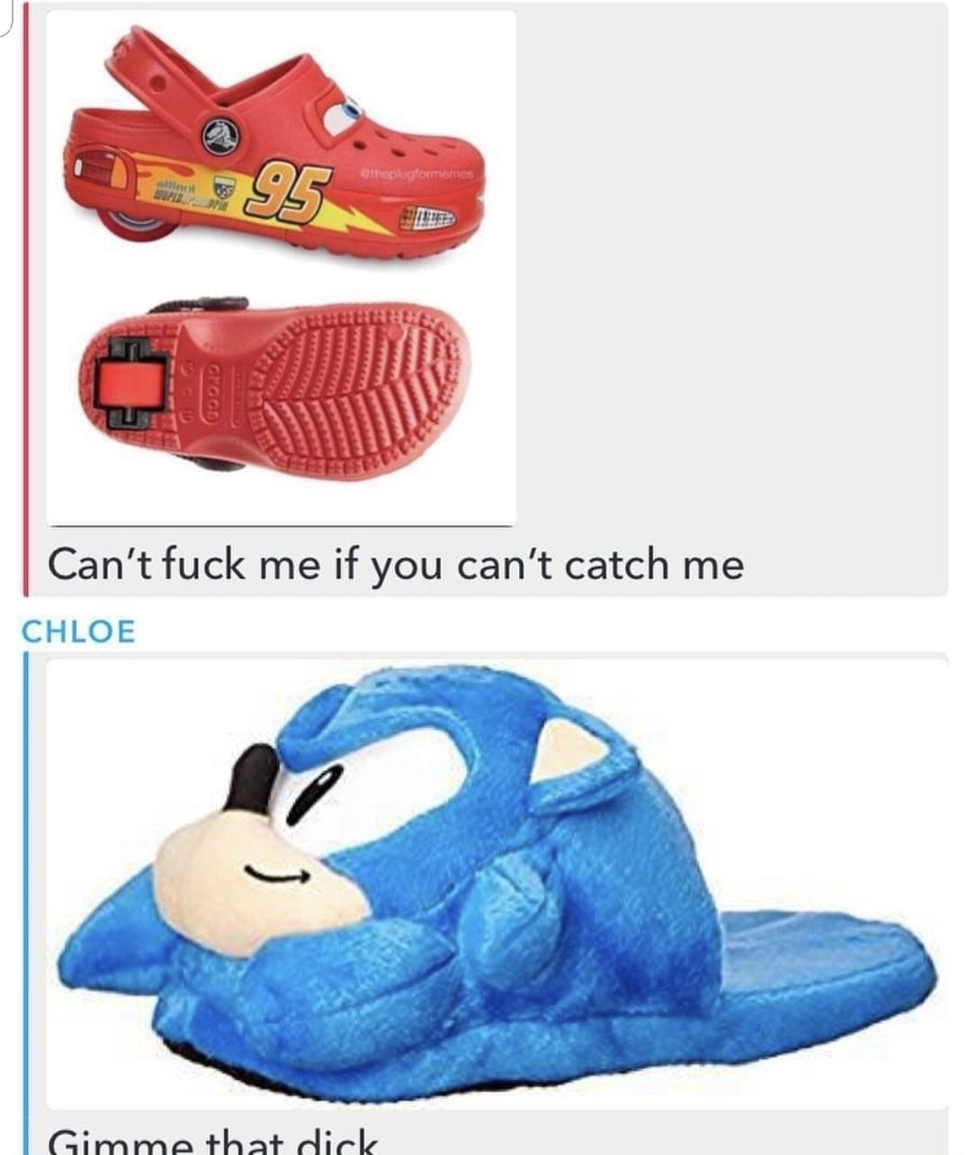 I think lighting McQueen Healy Crocs would win