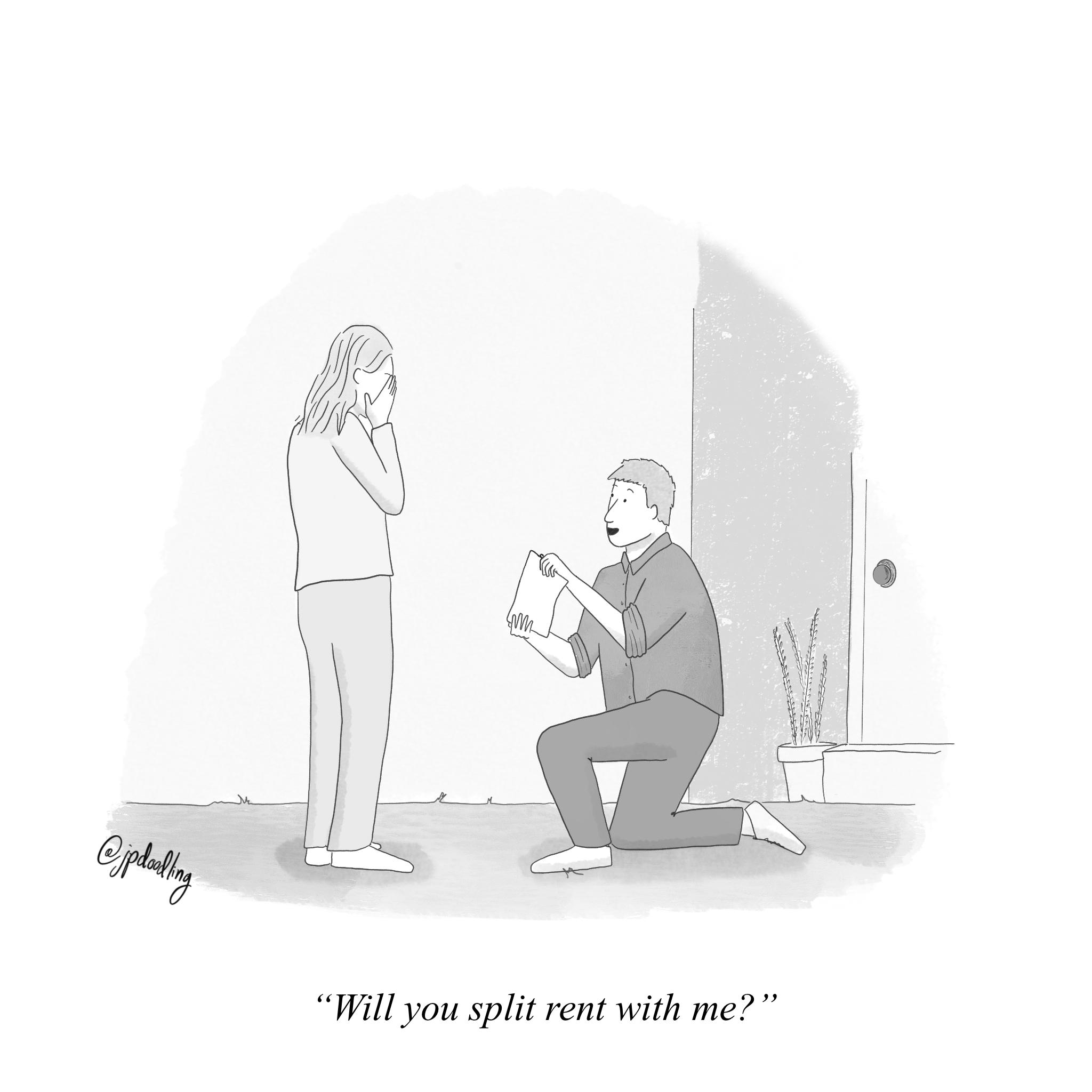 A Millenial Proposal IG: @jpdoodling