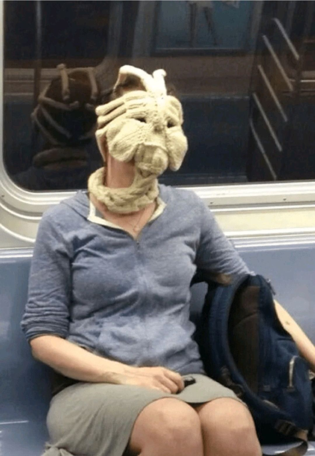 Is it a face warmer or a face hugger? Regardless, I kind of want one.