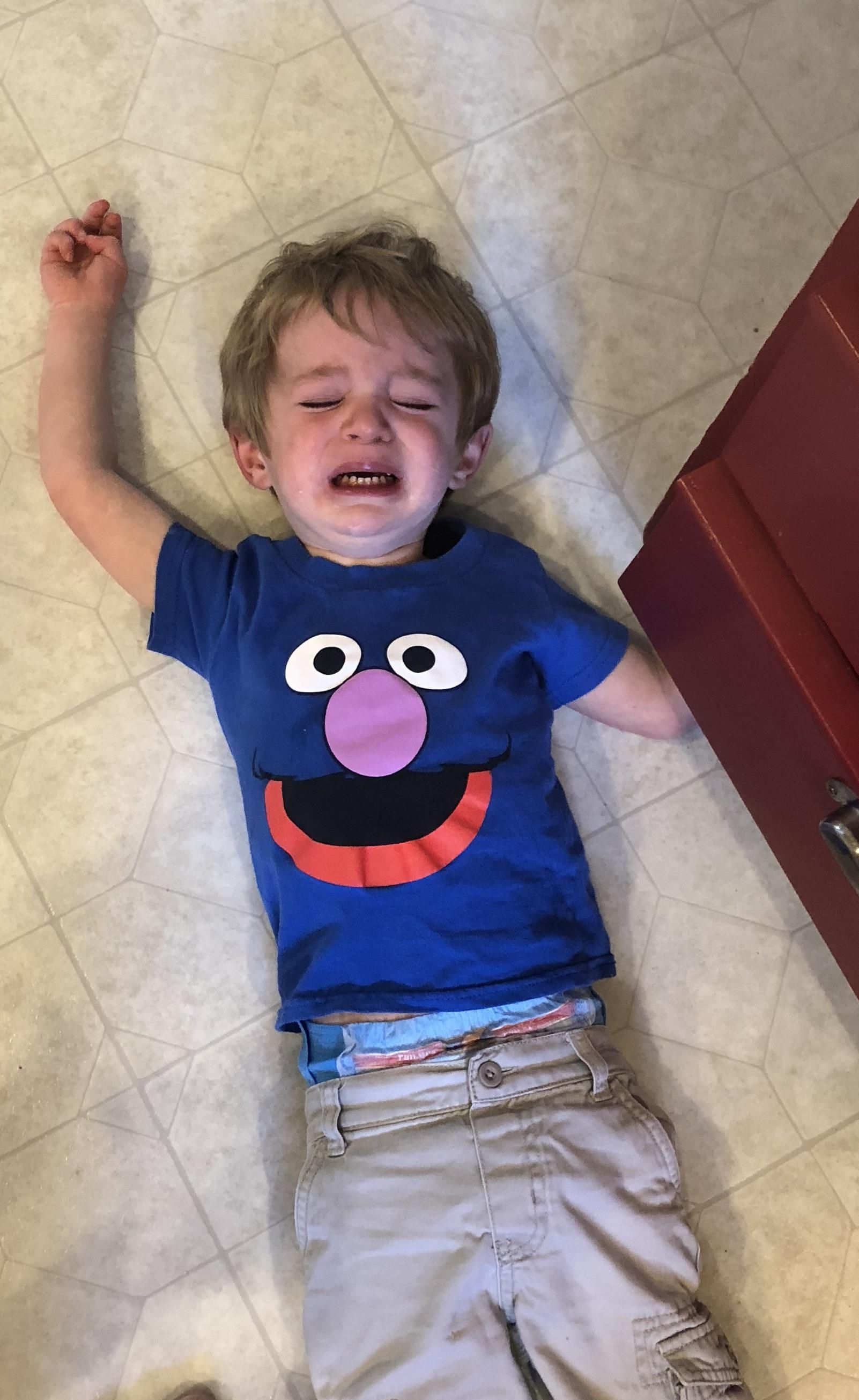 My son after being told he couldn't taste the dishwasher detergent