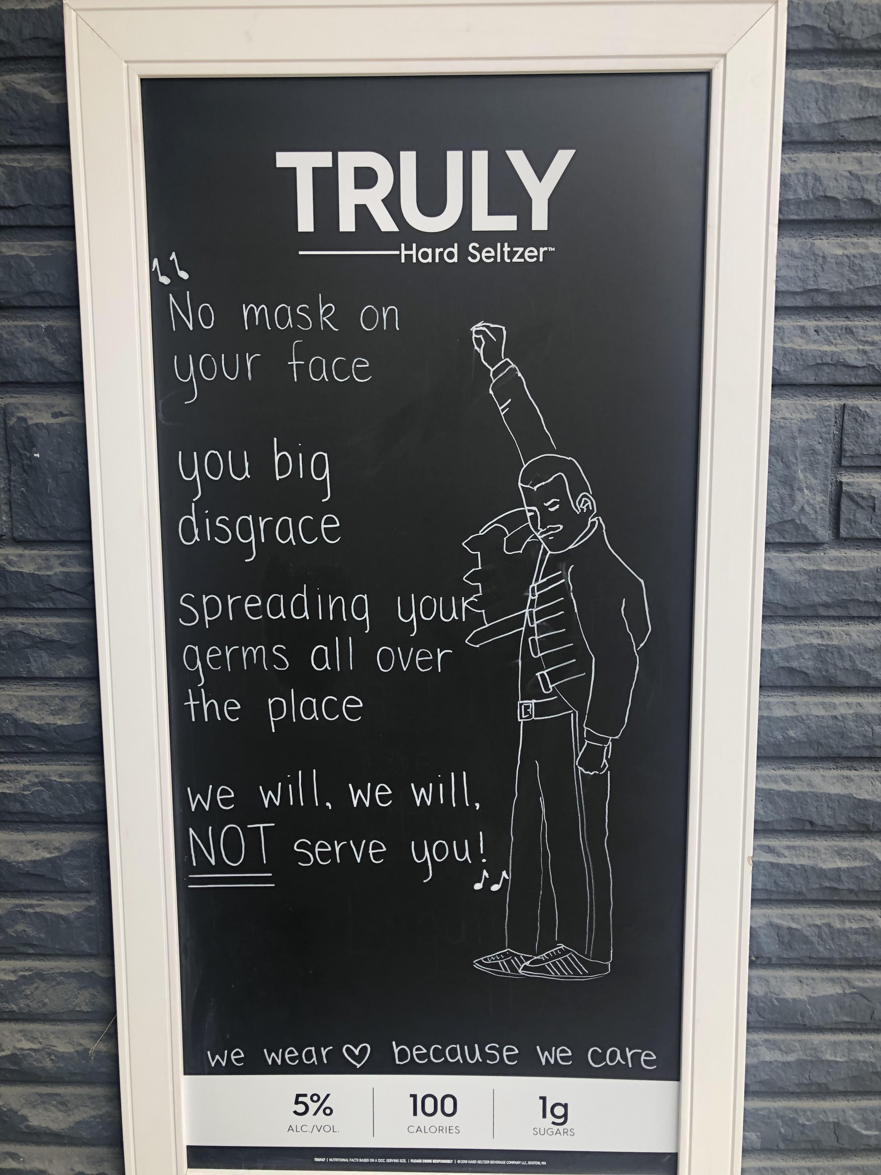 This sign outside a local business
