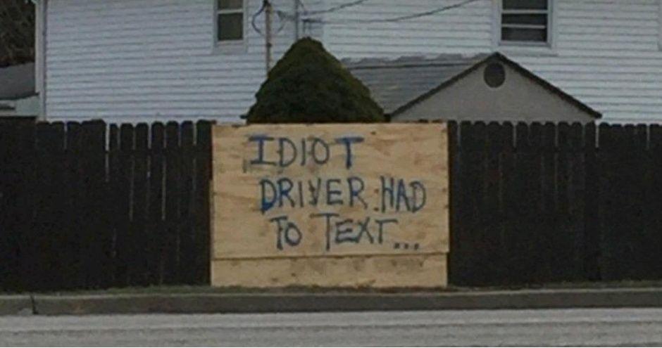 Don't text n drive kids