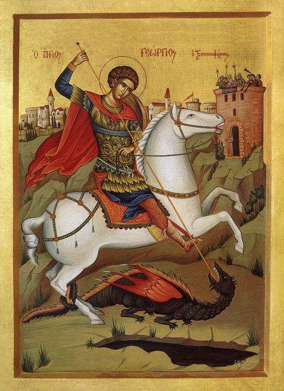 Saint George testing the dragon for Covid-19.