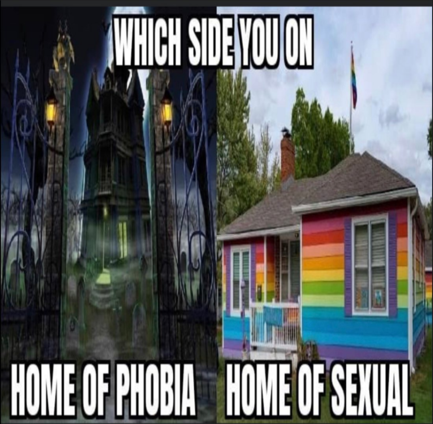 You have to choose