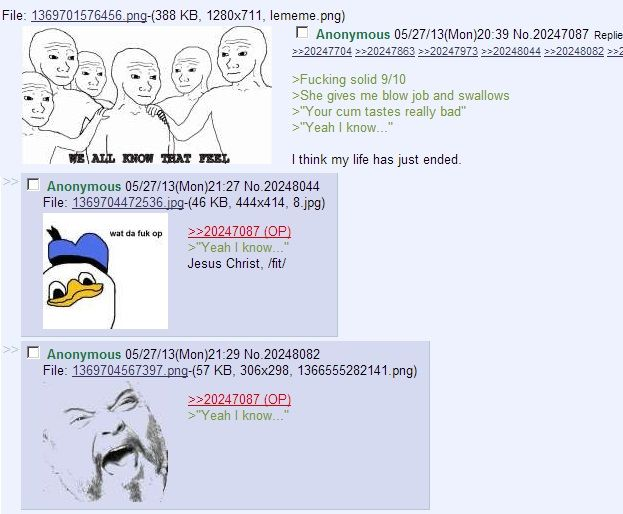 From the ancient greentext vault