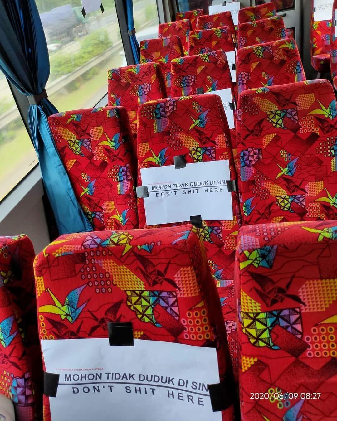 Social distancing rules on public transportation