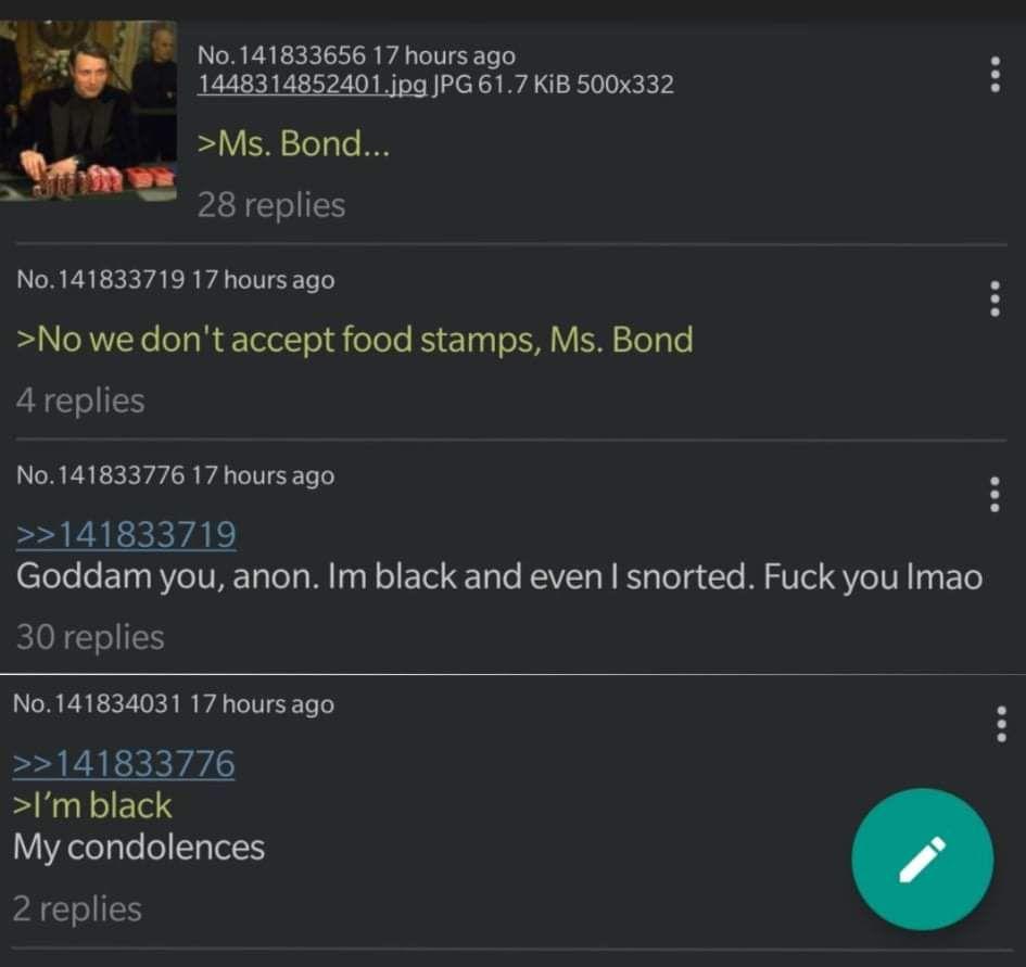 Anon is black