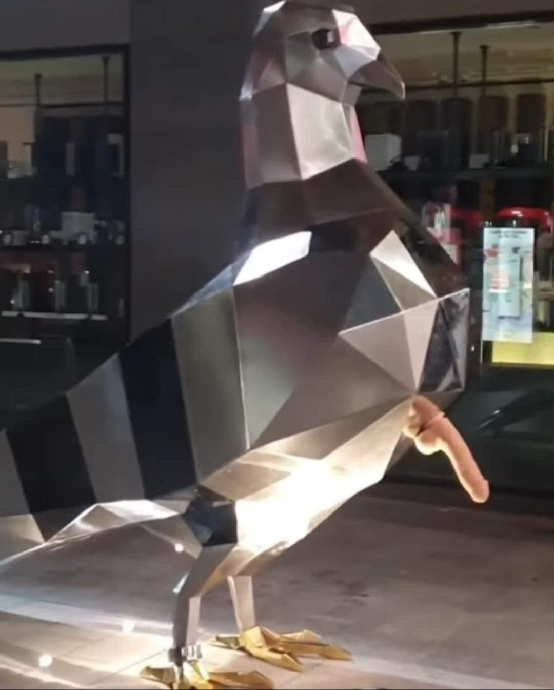 The City of Adelaide spent $174000 to erect this statue in Rundle Mall. Soon after, somone added an erection of their own.