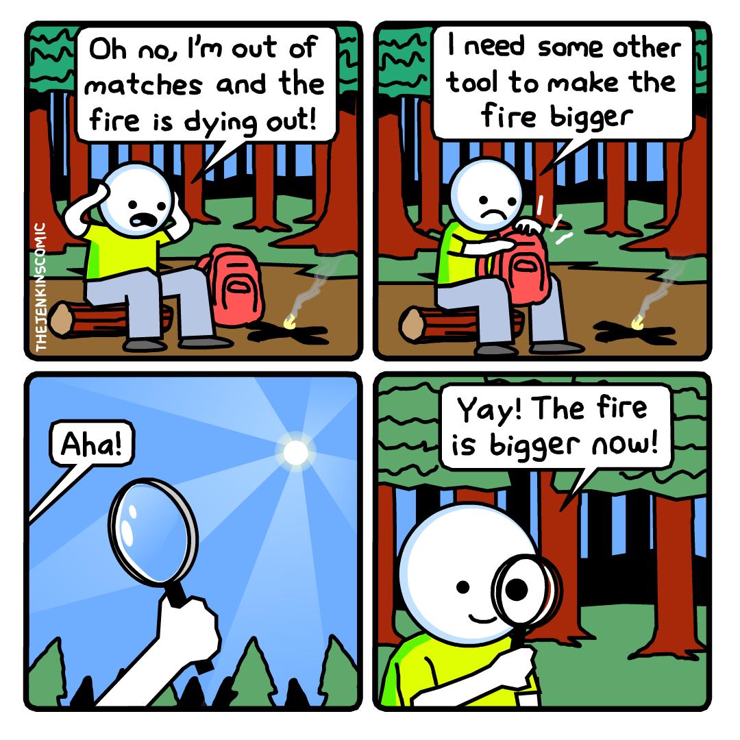 Bigger fire