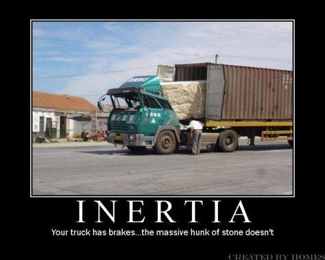 Inertia, yeah that's what happened here....