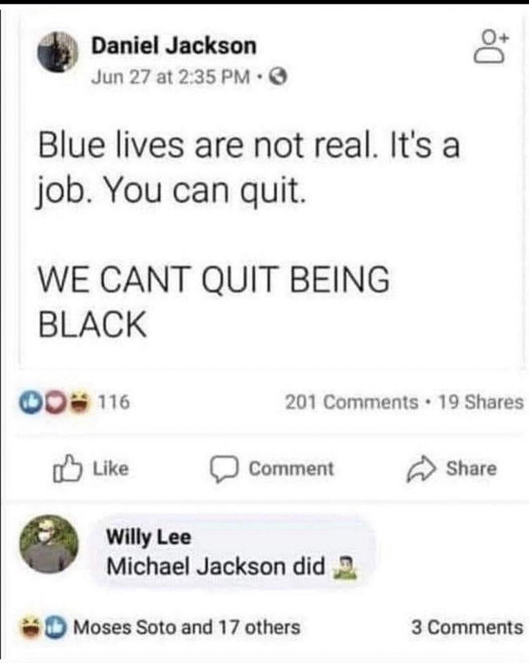 He really did