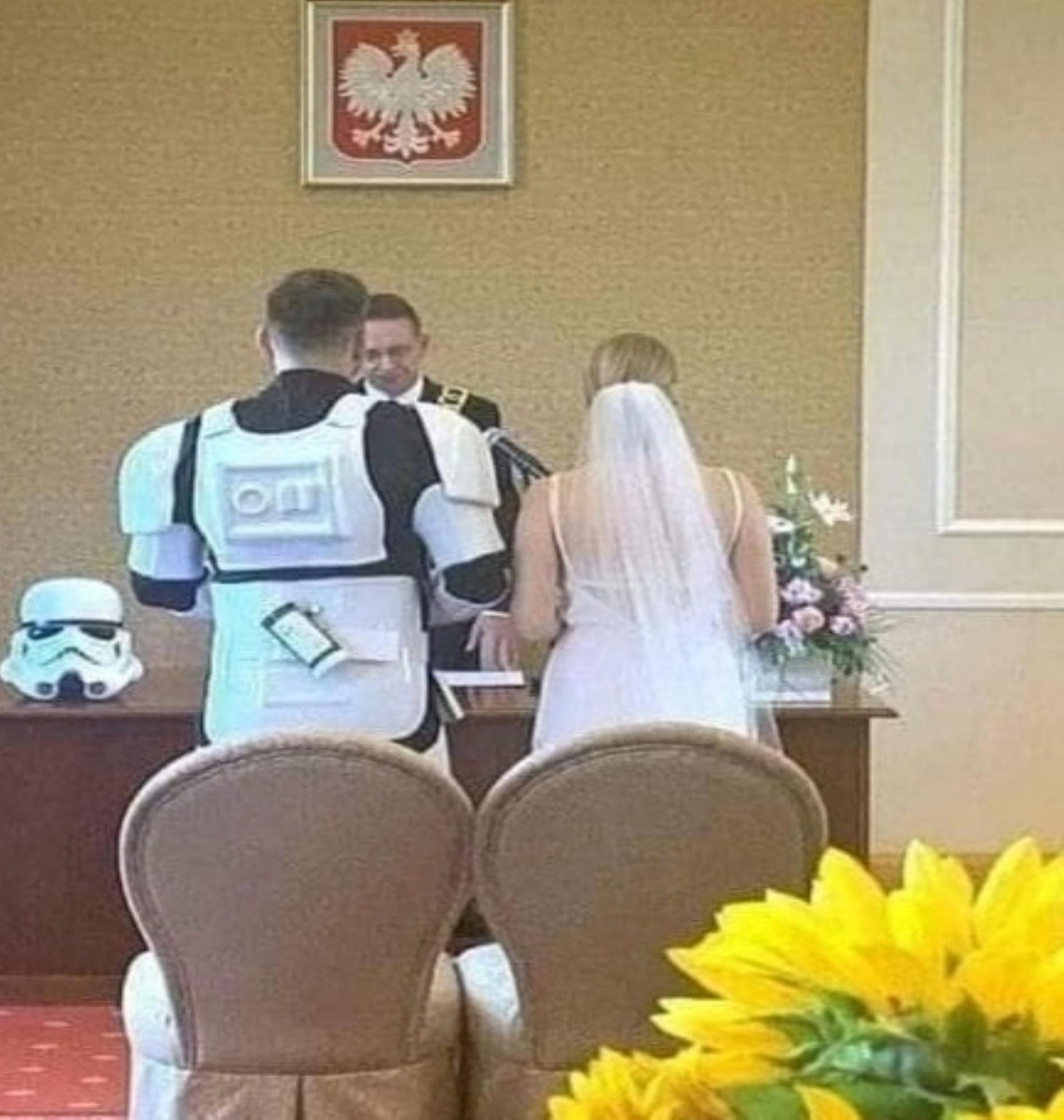 He didn't miss, so he had to marry