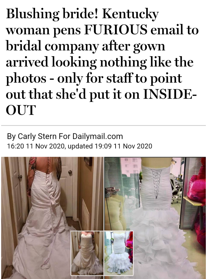 Bridezilla...ugly from the inside out.