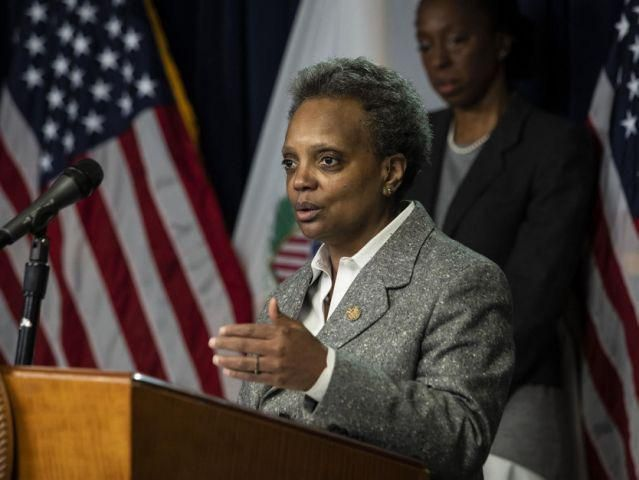 Is it just me.... or is the mayor of Chicago, Lori Lightfoot, starting to look like Beetlejuice?