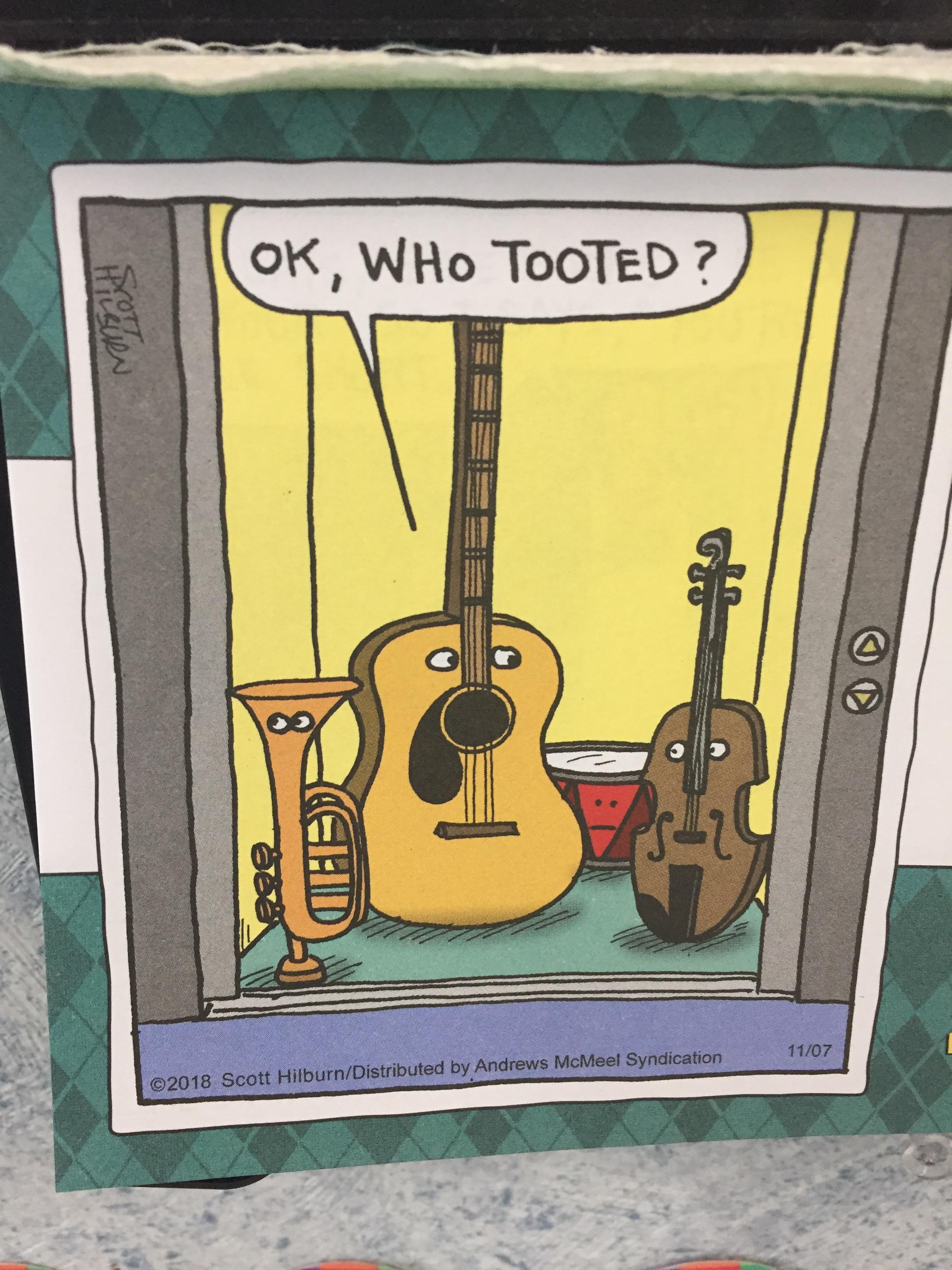 "Found on the ""comic board"" in my math teacher's classroom."