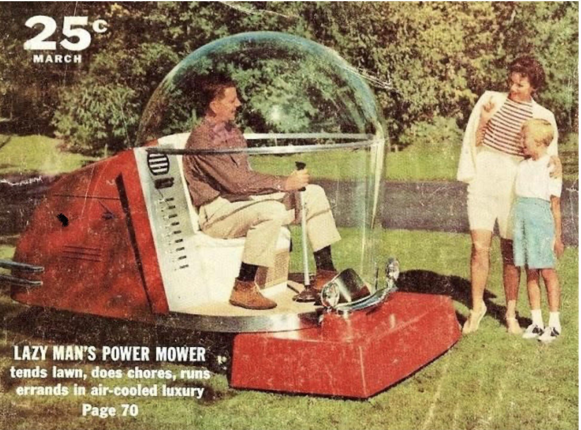 My brand new Covid proof mower