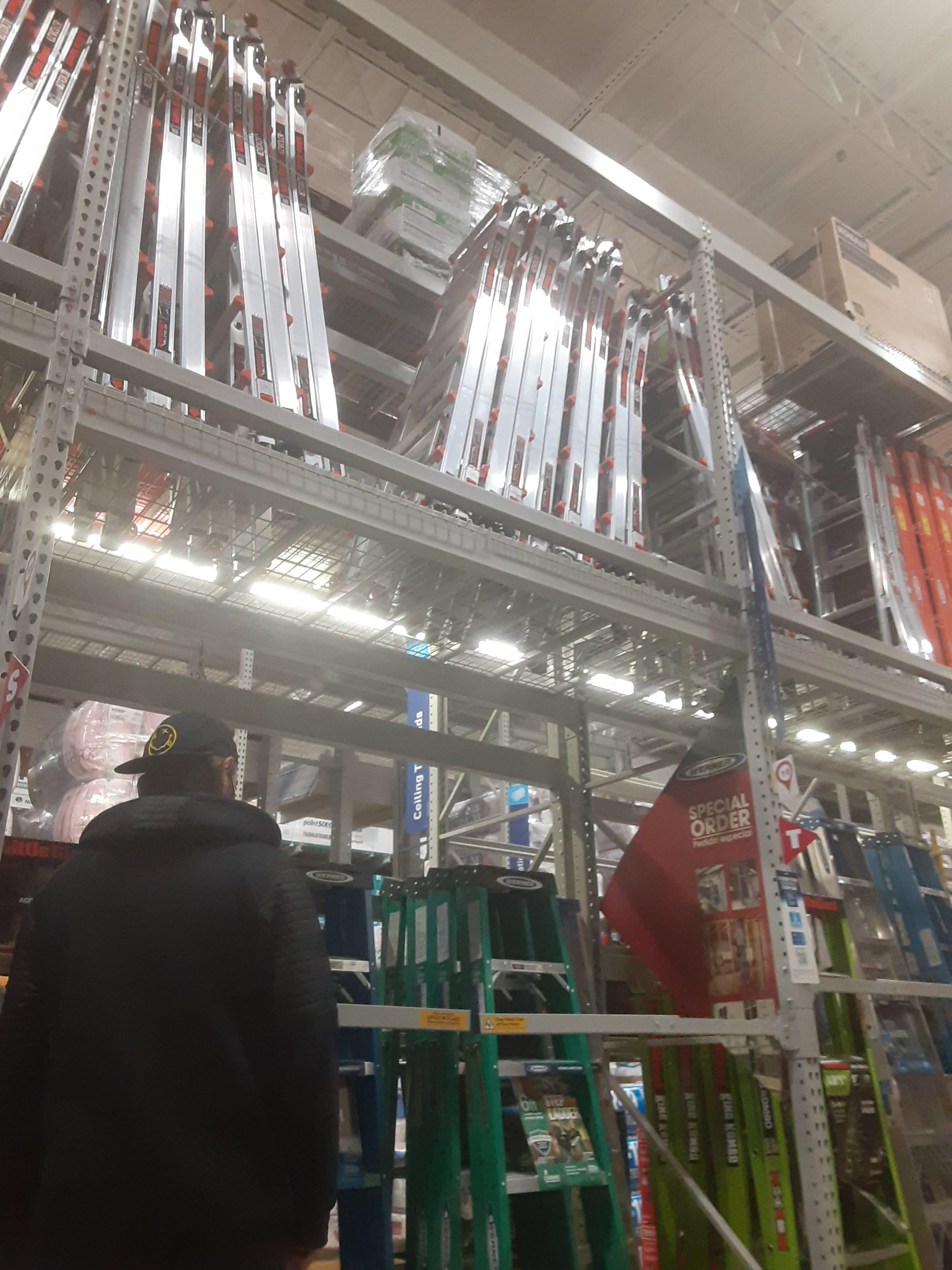 You heard of needing scissors to open scissors packaging, now get ready to need a ladder to get a ladder