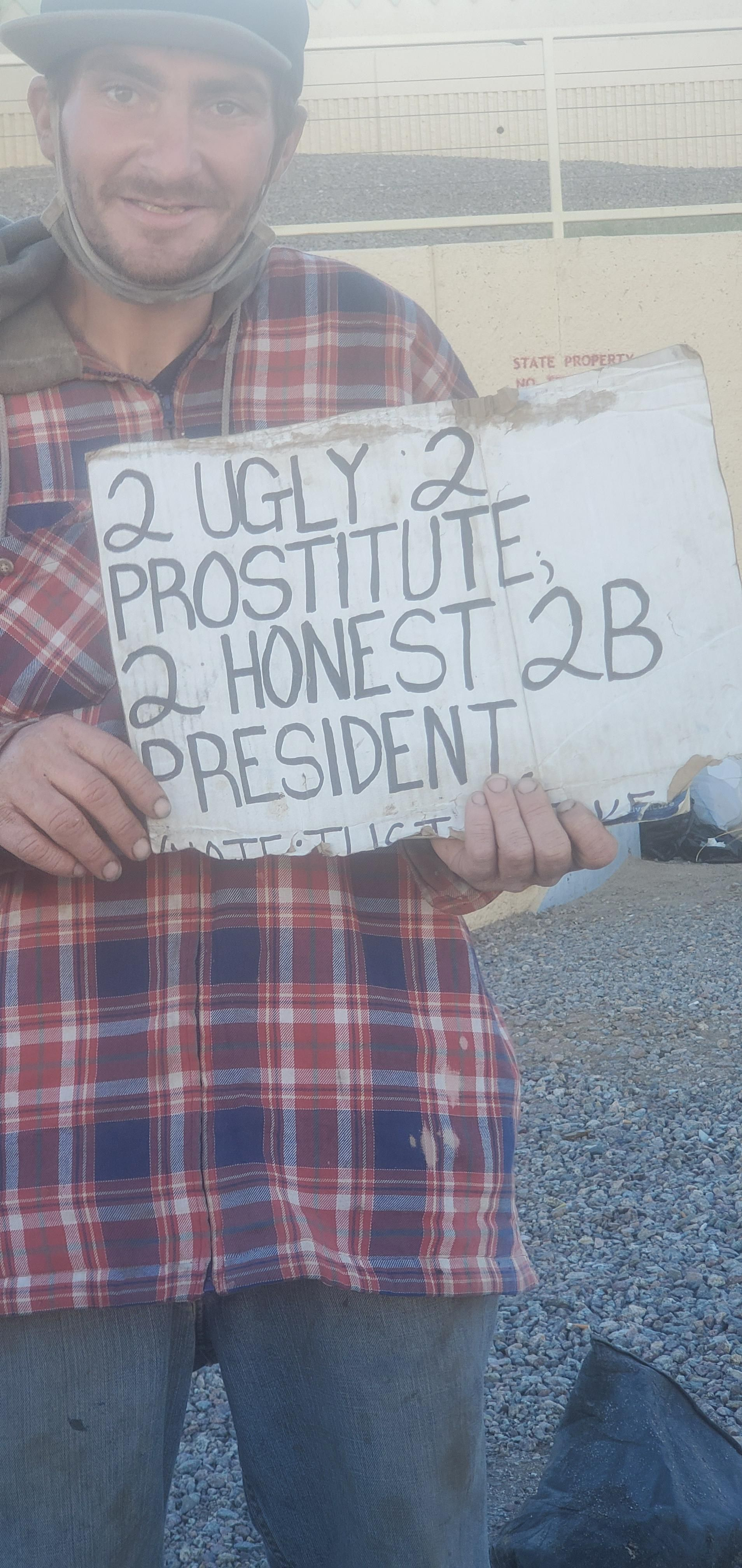 I had to give him money after that sign