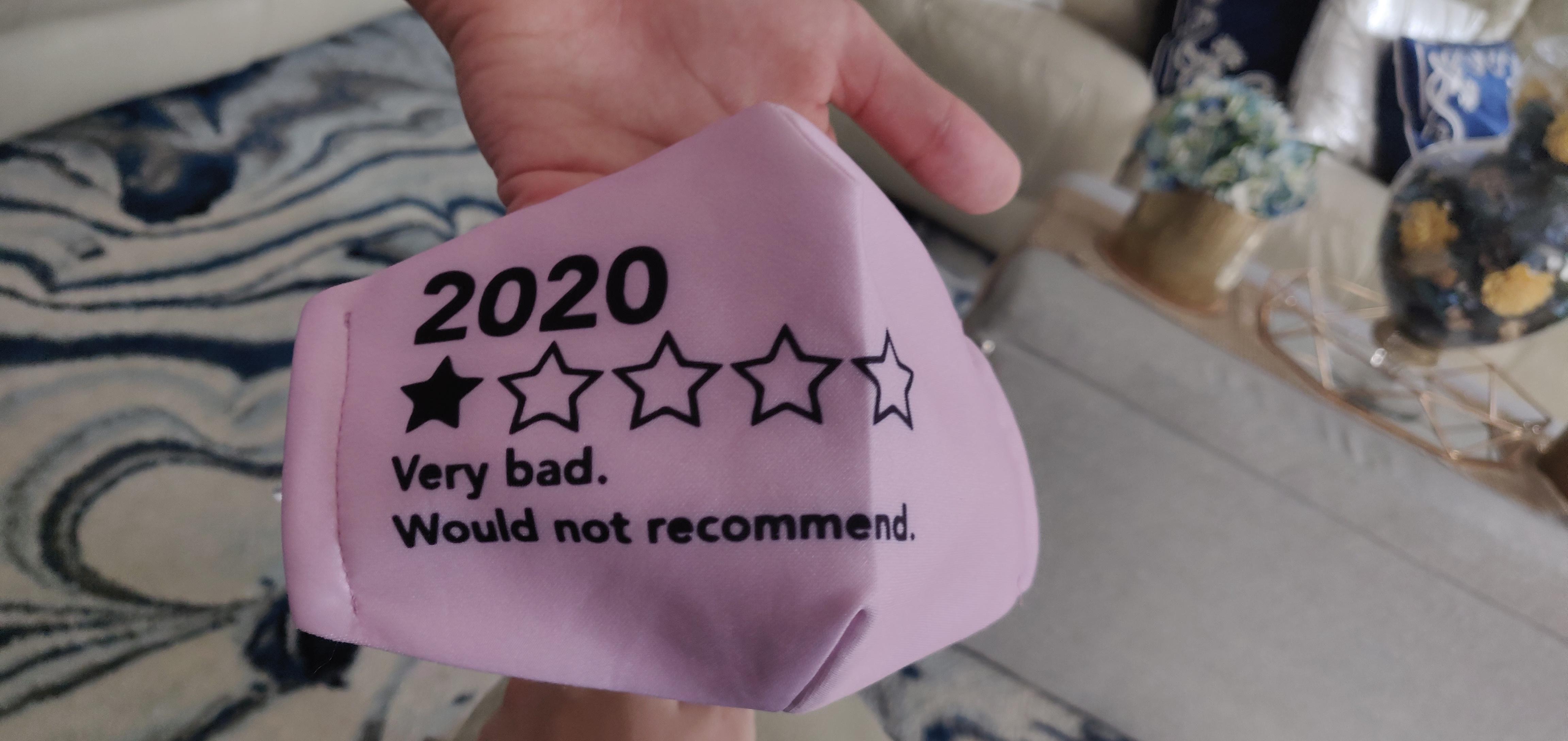 My niece's mask is pretty funny.