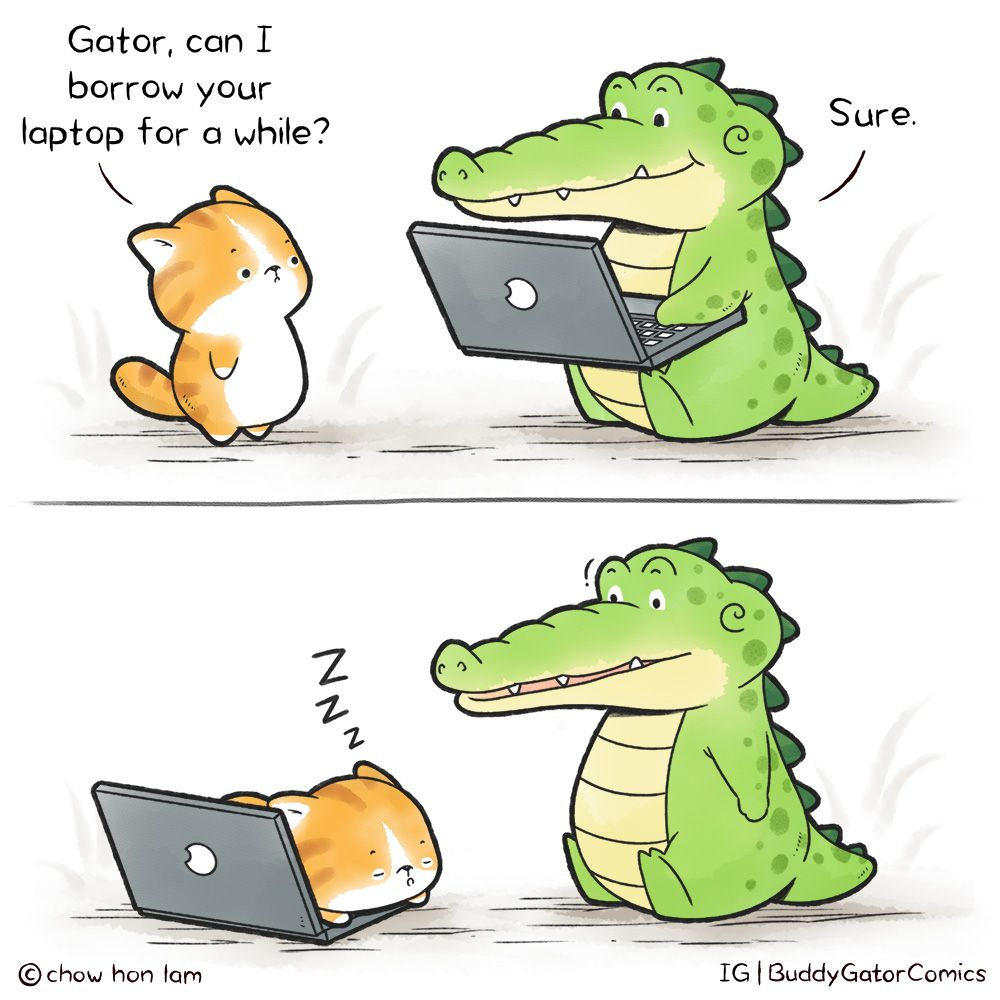 Buddy Gator - Laptop