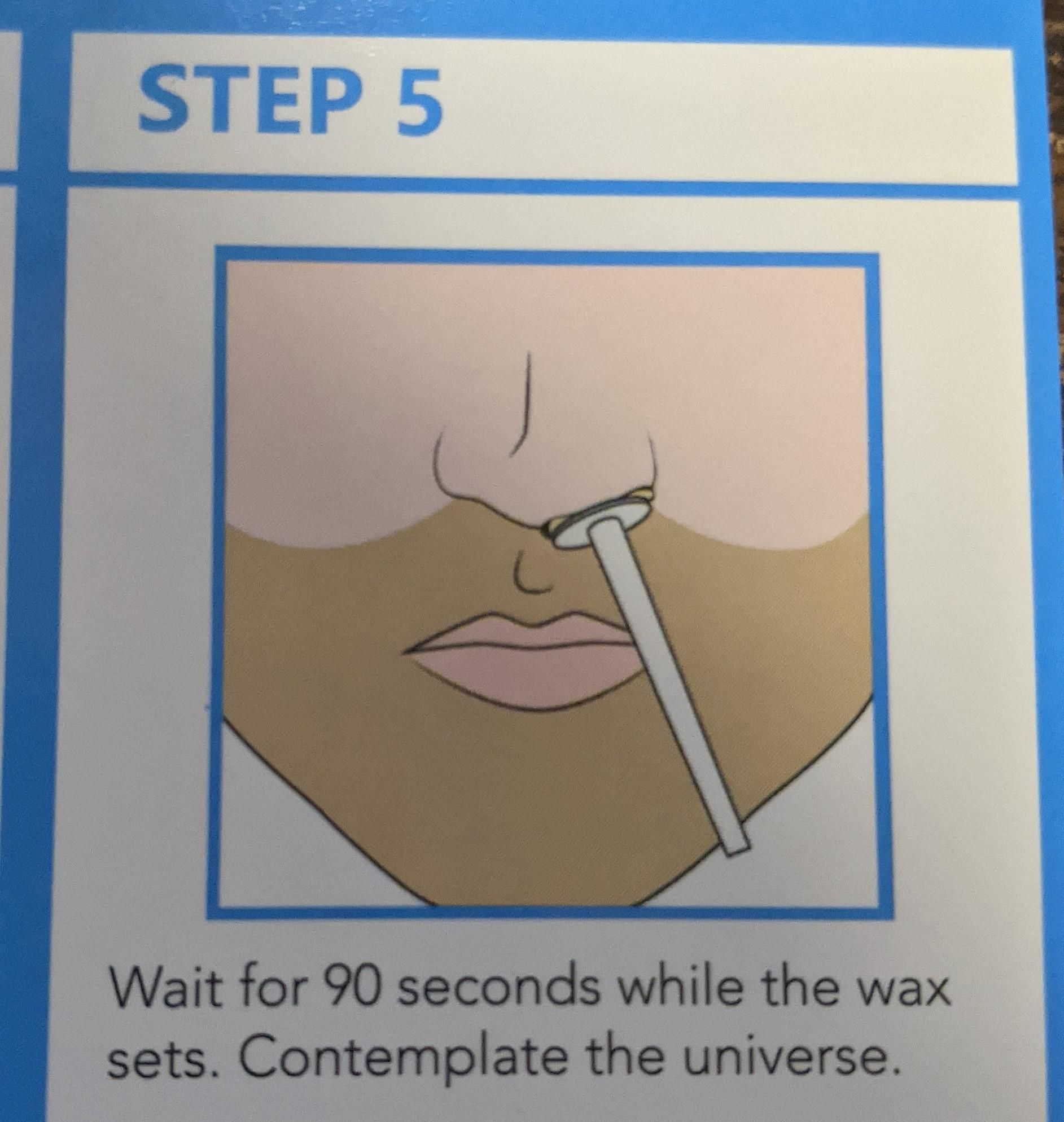 Step 5 of nose waxing kit.