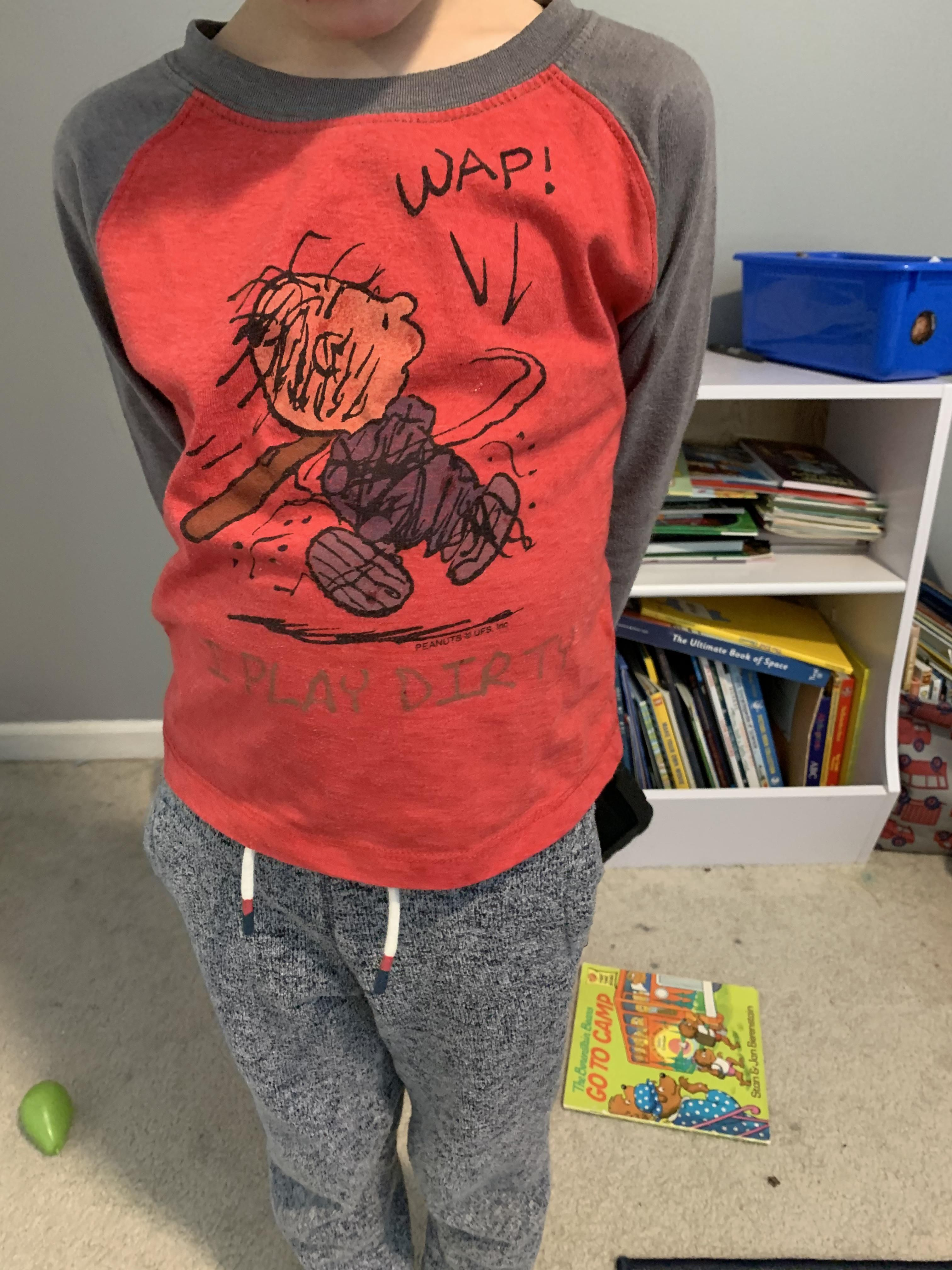 So, can my son not wear this to school anymore?
