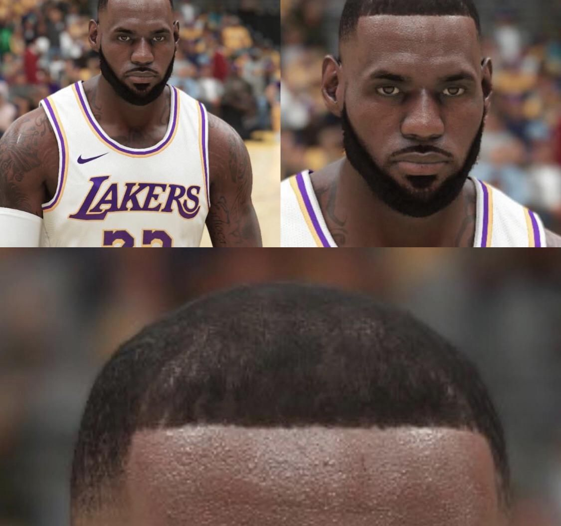 NBA 2k21 Graphics so Good you can See Lebron's Hair Implants
