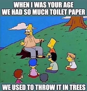 Yes, those were the good old days...