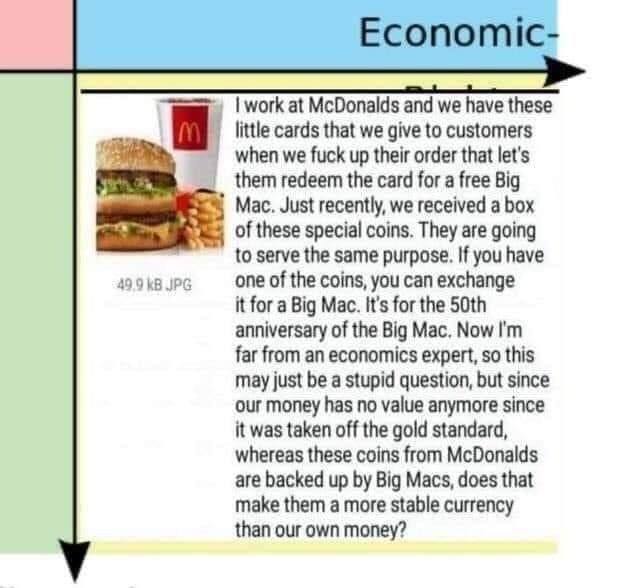 ill take a bigmac based brehconomy over the federal brehserve breh