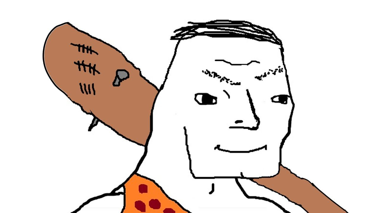 Helo me Chadgar, big strong cave club man big muscle strong