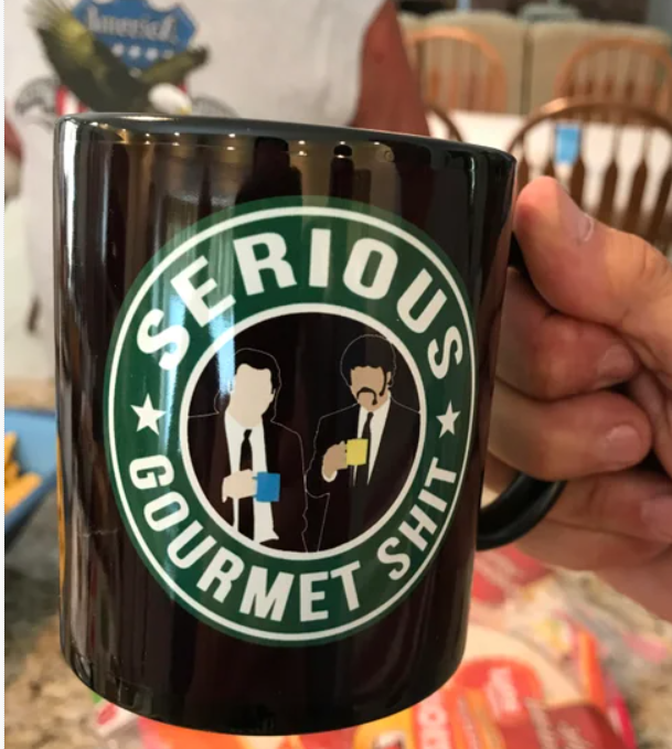 A friend gifted this coffee cup to my dad