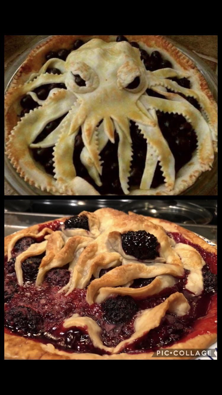 I tried to make Cthulhu pie but I got his derpy cousin