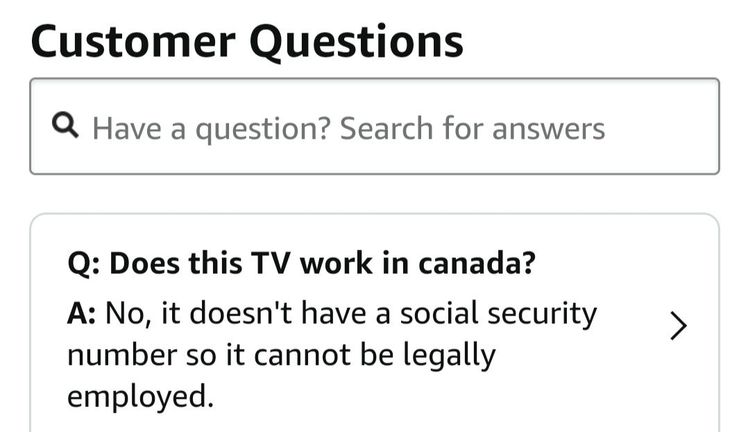 Amazon customer question