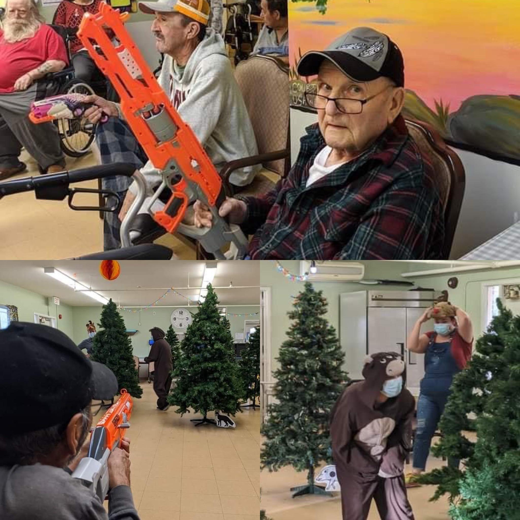 Doe! It's deer huntin' season at the nursing home!