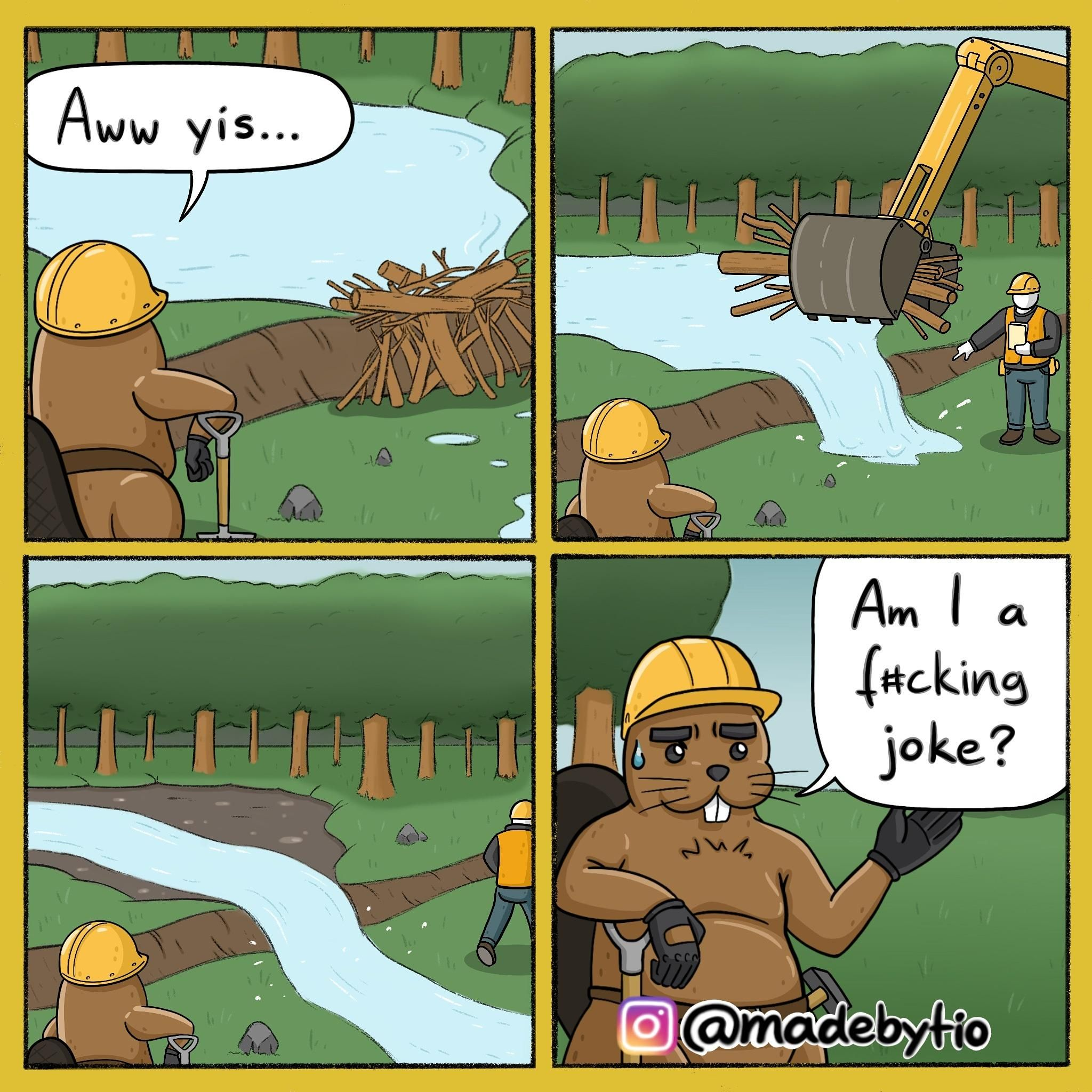 Beaver worked his a** off ...