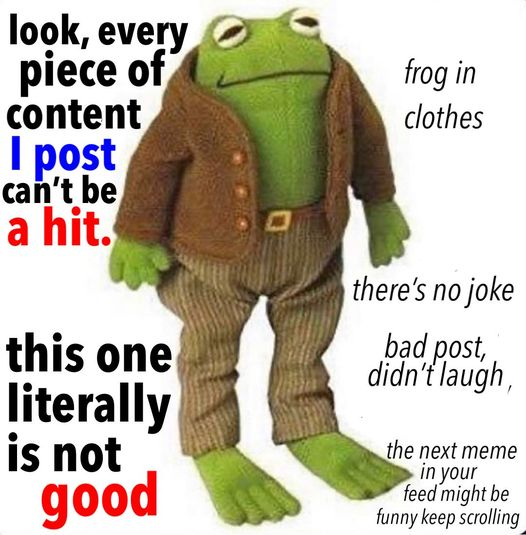 frog in cloths