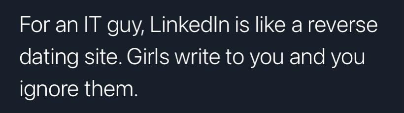 An IT guy and LinkedIn