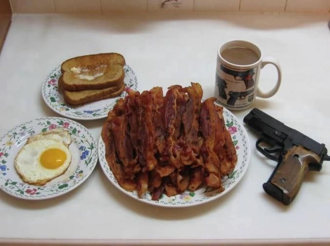 American breakfast, as envisioned by a European